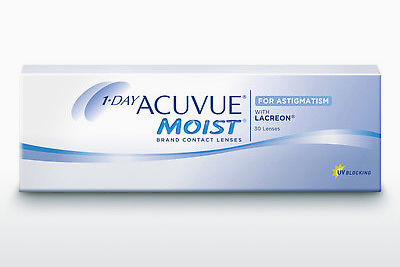 עדשות מגע Johnson & Johnson 1 DAY ACUVUE MOIST for ASTIGMATISM 1MA-30P-REV