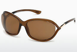 משקפי שמש Tom Ford Jennifer (FT0008 48H) - חום, Dark, Shiny