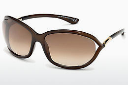 משקפי שמש Tom Ford Jennifer (FT0008 692) - חום, Dark, Shiny