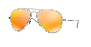 Ray-Ban RB4211 646/6Q BROWN MIRROR ORANGEMATTE TRANSPARENT