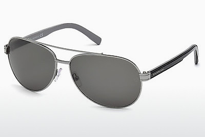 משקפי שמש Ermenegildo Zegna EZ0004 14A - אפור, Shiny, Bright