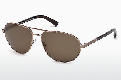 משקפי שמש Ermenegildo Zegna EZ0011 34M - ארד, Bright, Shiny