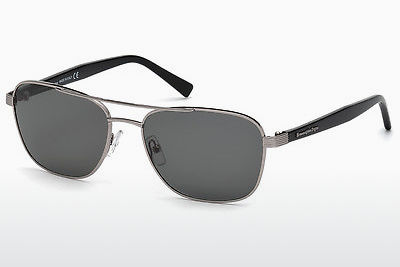 משקפי שמש Ermenegildo Zegna EZ0068 14A - אפור, Shiny, Bright