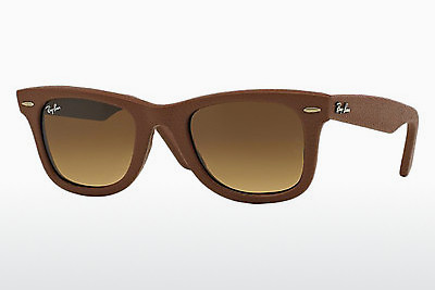 משקפי שמש Ray-Ban WAYFARER LEATHER (RB2140QM 116985) - חום