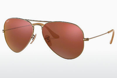 משקפי שמש Ray-Ban AVIATOR LARGE METAL (RB3025 167/2K) - חום