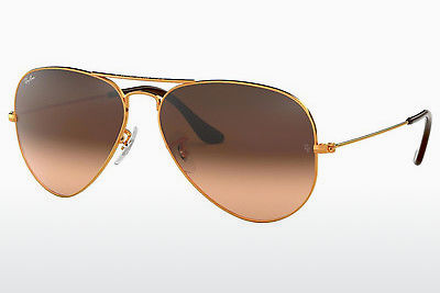 משקפי שמש Ray-Ban AVIATOR LARGE METAL (RB3025 9001A5) - חום