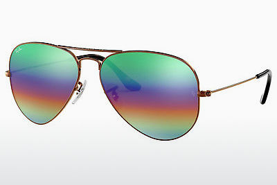 משקפי שמש Ray-Ban AVIATOR LARGE METAL (RB3025 9018C3) - חום