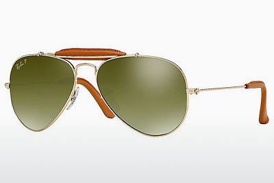 משקפי שמש Ray-Ban AVIATOR CRAFT (RB3422Q 001/M9) - זהב, חום