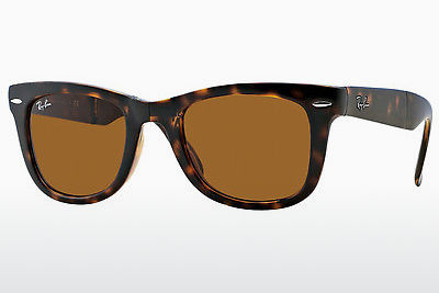 משקפי שמש Ray-Ban FOLDING WAYFARER (RB4105 710) - חום, הוואנה