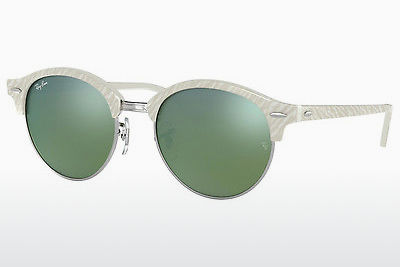 משקפי שמש Ray-Ban Clubround (RB4246 988/2X) - לבן