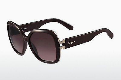 משקפי שמש Salvatore Ferragamo SF781S 604 - בורגונדי, שחור
