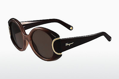 משקפי שמש Salvatore Ferragamo SF811S SIGNATURE 212 - חום