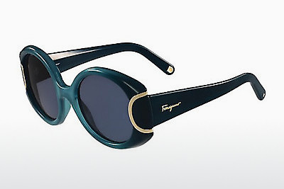 משקפי שמש Salvatore Ferragamo SF811S SIGNATURE 446 - חום