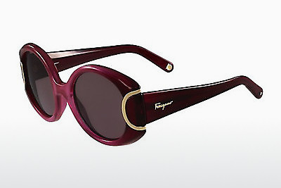 משקפי שמש Salvatore Ferragamo SF811S SIGNATURE 605 - אדום