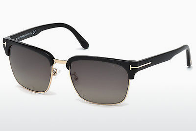 משקפי שמש Tom Ford River (FT0367 01D) - שחור, Shiny