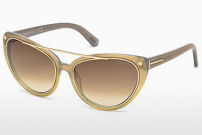 משקפי שמש Tom Ford Edita (FT0384 34F) - ארד, Bright, Shiny