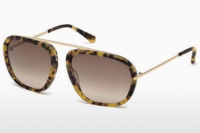 משקפי שמש Tom Ford Johnson (FT0453 53F) - הוואנה, Yellow, Blond, Brown