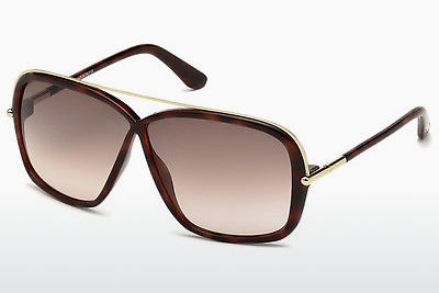 משקפי שמש Tom Ford Brenda (FT0455 52F) - חום, Dark, Havana