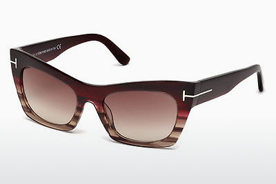 משקפי שמש Tom Ford Kasia (FT0459 71F) - בורגונדי, Bordeaux