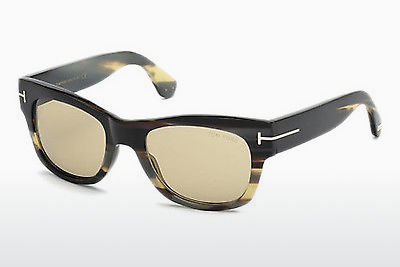 משקפי שמש Tom Ford Tom N.2 (FT0487-P 64E) - קרן, Horn, Brown
