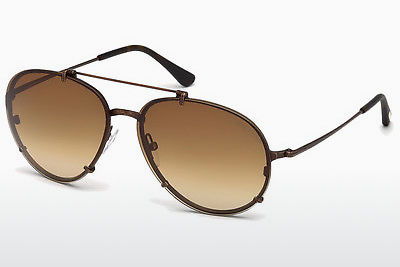 משקפי שמש Tom Ford Dickon (FT0527 49J) - חום, Dark, Matt
