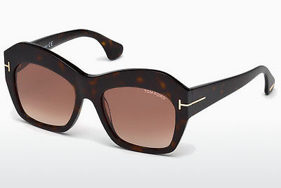 משקפי שמש Tom Ford Emmanuelle (FT0534 52F) - חום, Dark, Havana