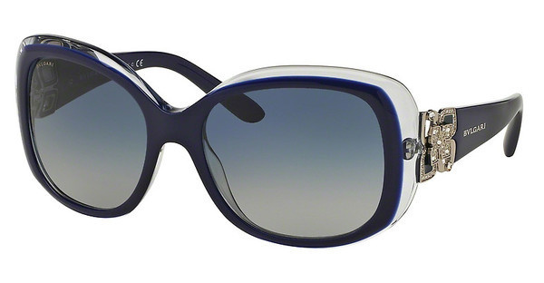 Bvlgari BV8172B 53914L LIGHT GREY GRADIENT BLUETOP BLUE ON AZURE CRYSTAL