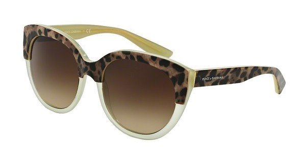 Dolce & Gabbana DG4259 295013 BROWN GRADIENTTOP ANIMALIER ON LIME
