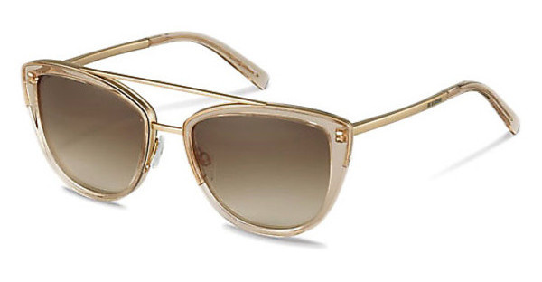 Jil Sander J1006 C sun protect brown gradient - 77%rose transparent, rose gold