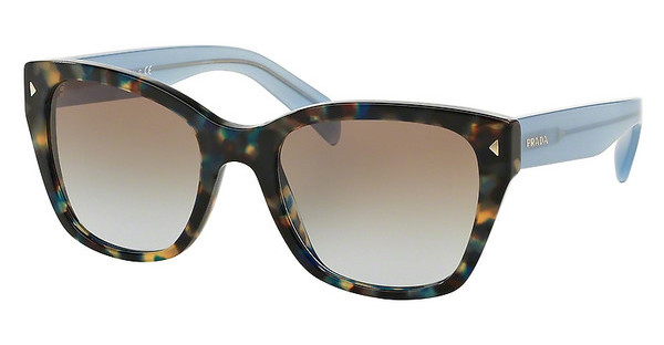 Prada PR 09SS UE14S2 LIGHT BLUE GRAD LIGHT BROWNSPOTTED BROWN BLUE